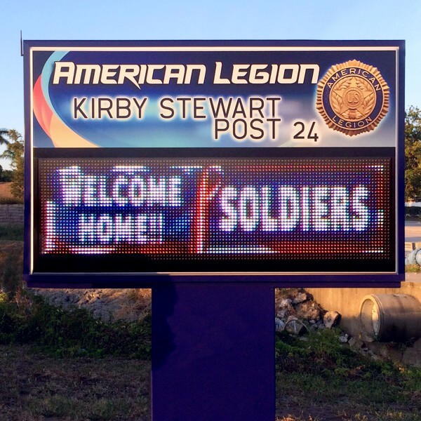 Civic Sign for Kirby Stewart American Legion Post 24