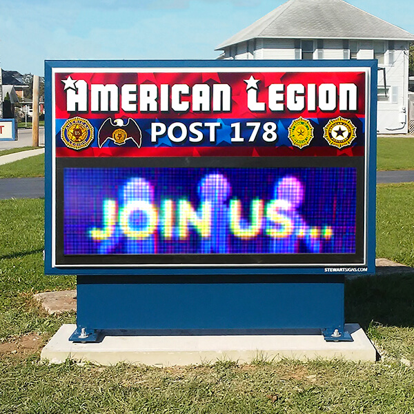 Civic Sign for American Legion Post 178