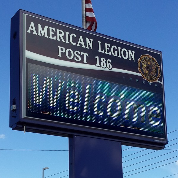 Civic Sign for American Legion Post 186
