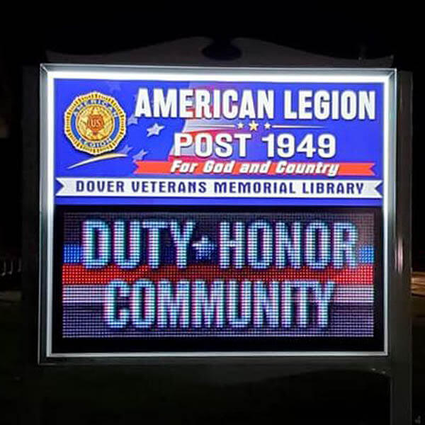Civic Sign for American Legion Post 1949