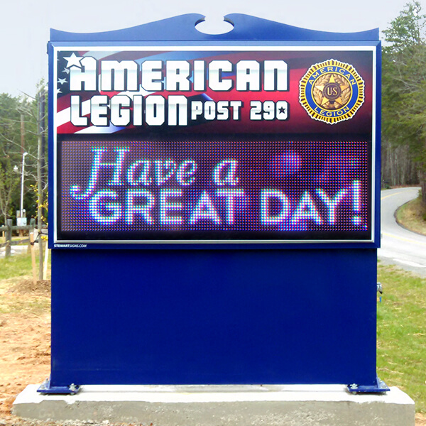 Civic Sign for American Legion Post 290
