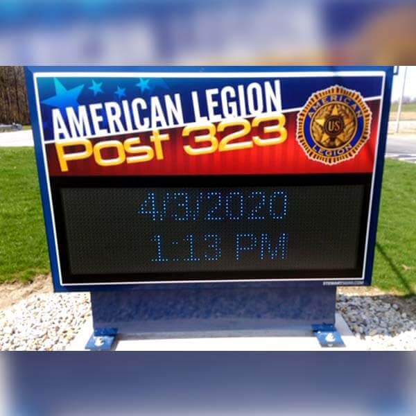 Civic Sign for American Legion Post 323
