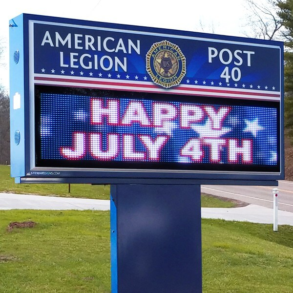 Civic Sign for American Legion Post 40