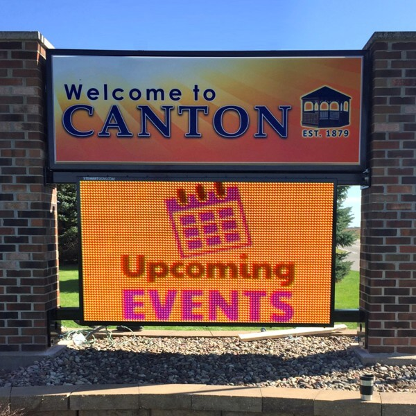 Civic Sign for Canton Community Association