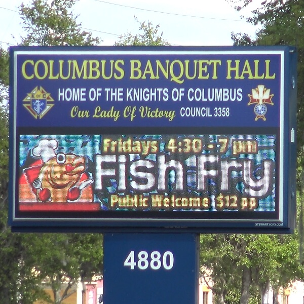 Civic Sign for Knights Of Columbus