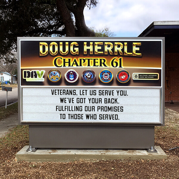 Civic Sign for Disabled American Veterans Ch. 61