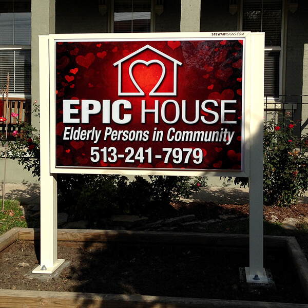 Civic Sign for Epic House