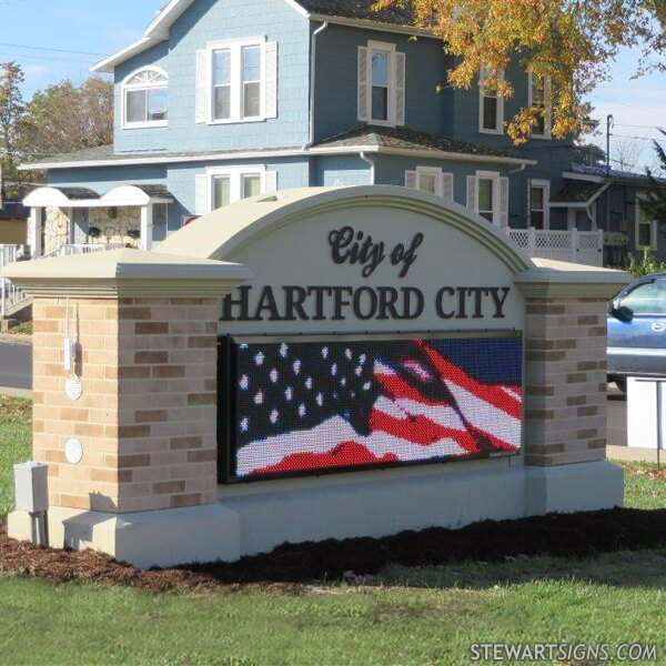 Municipal Sign for Hartford City