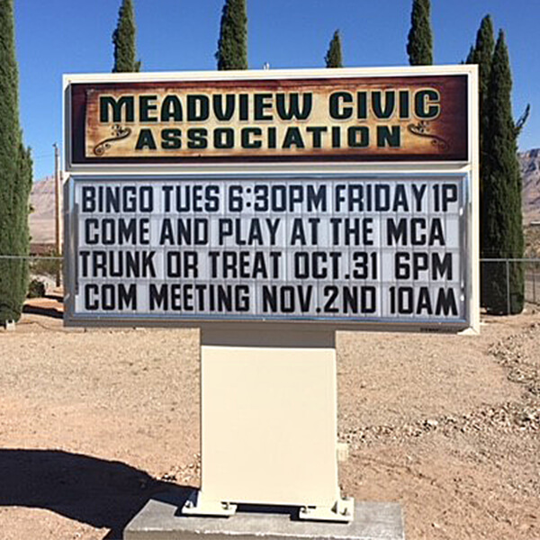 Civic Sign for Meadview Civic Association
