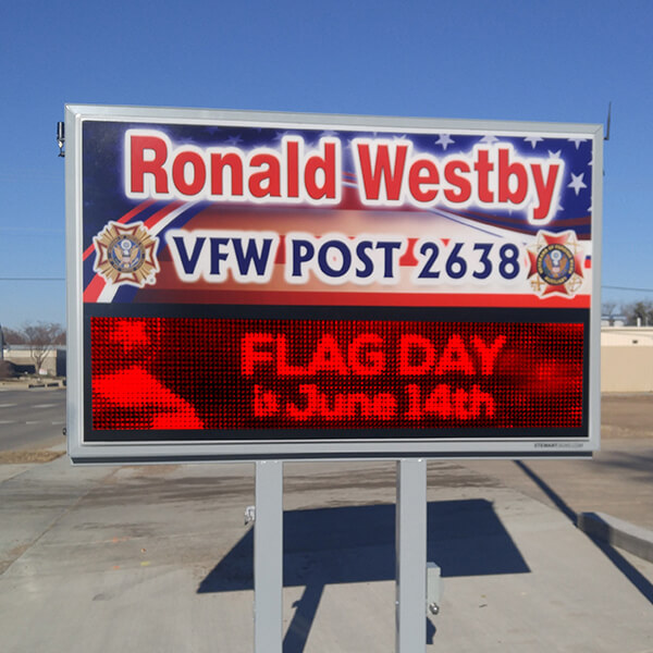 Civic Sign for Ronald Westby VFW Post 2638
