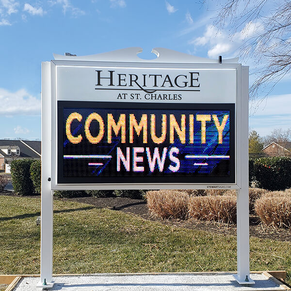 Civic Sign for The Heritage At St. Charles