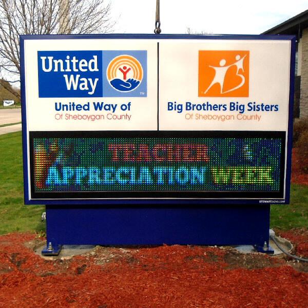 Civic Sign for United Way Of Sheboygan County