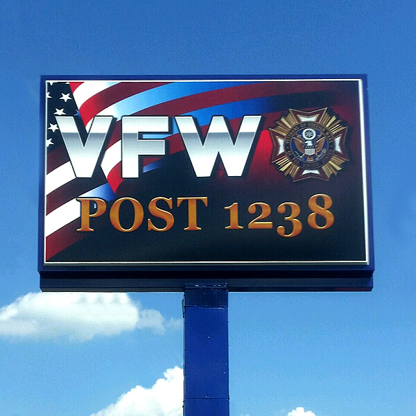 Civic Sign for VFW Post 1238