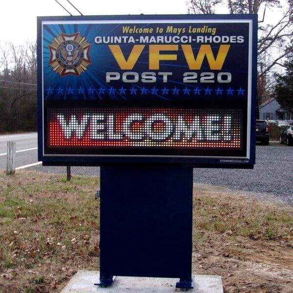 Civic Sign for VFW Post 220 Guinta - Marucci - Rhodes