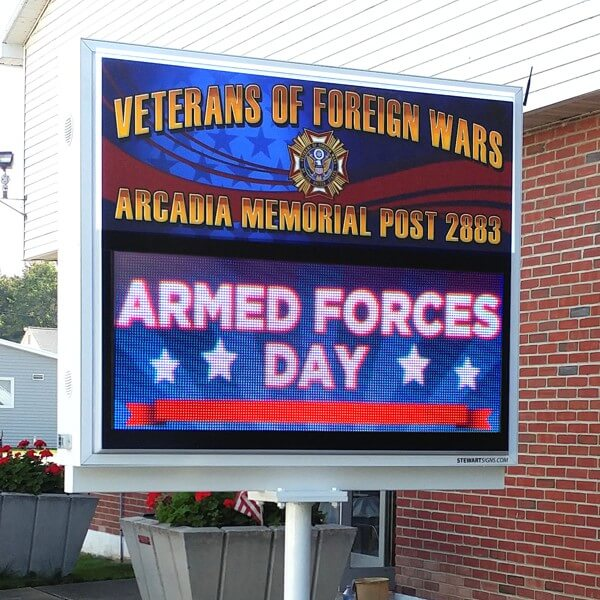 Civic Sign for VFW Post 2883