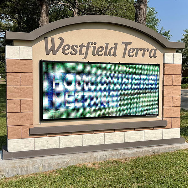 Civic Sign for Westfield Terra