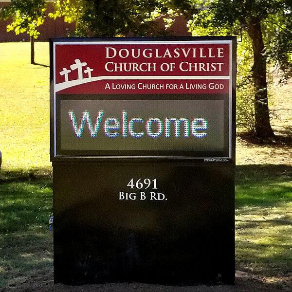 Church Sign for Douglasville Church Of Christ