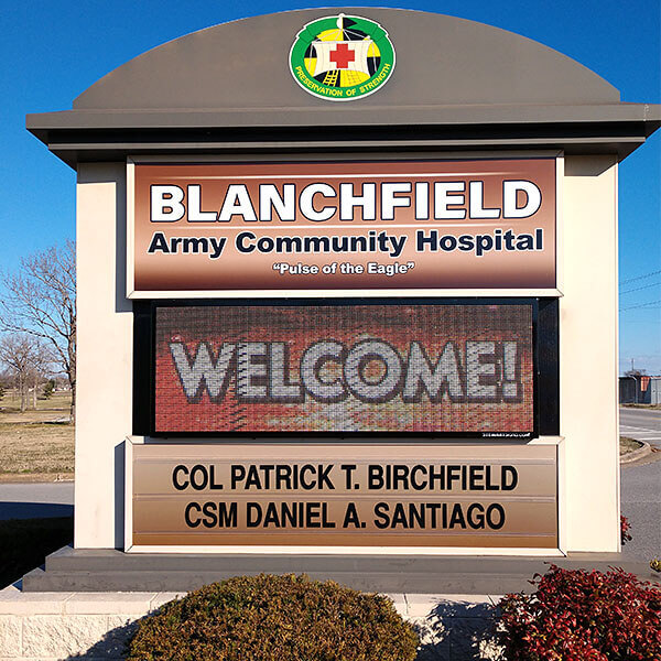 Military Sign for Blanchfield Army Community Hospital