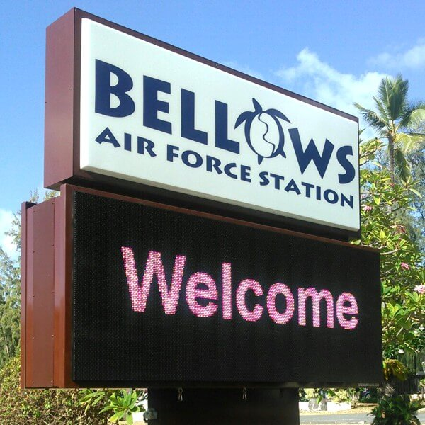 Military Sign for Bellows Air Force Station