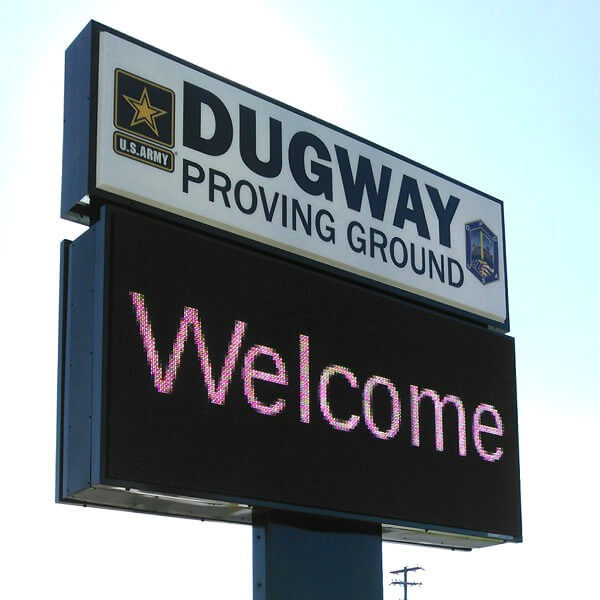 Military Sign for Usag Dugway Proving Ground
