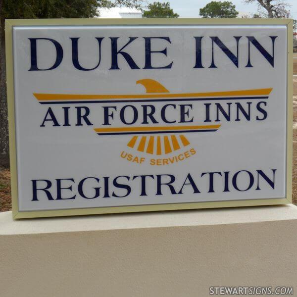 Military Sign for Duke Inn - Duke Field