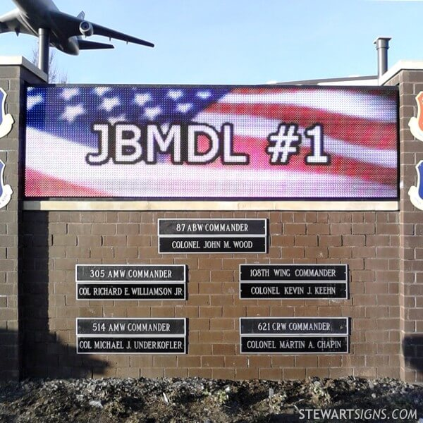 Military Sign for Pax Terminal Joint Base Mcguire - Fort Dix - Lakehurst