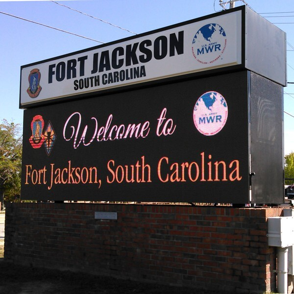 Military Sign for MWR - Fort Jackson