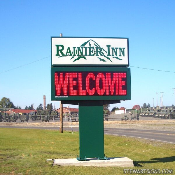 Military Sign for Rainier Inn