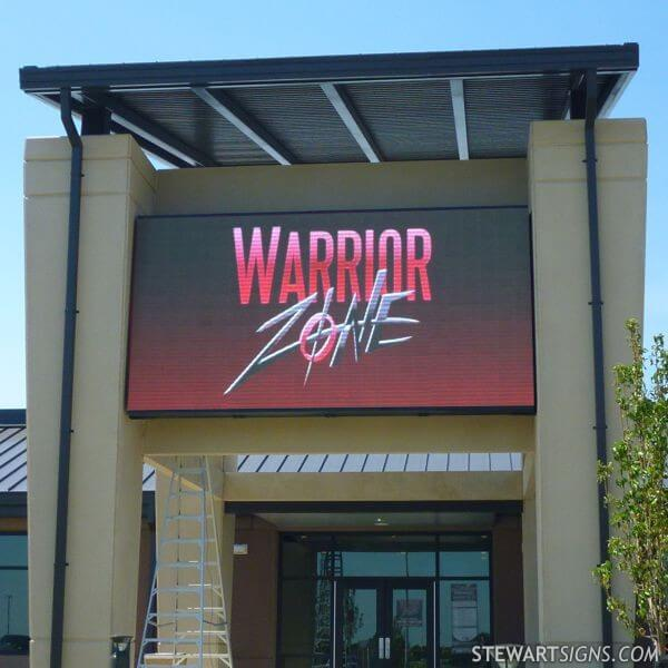 Military Sign for Warrior Zone, Fort Riley