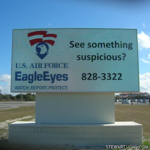 Military Sign for Mac Dill AFB - Dale Mabry Gate