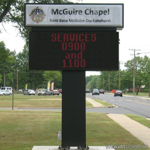 Military Sign for Mc Guire Chapel - Fort Dix