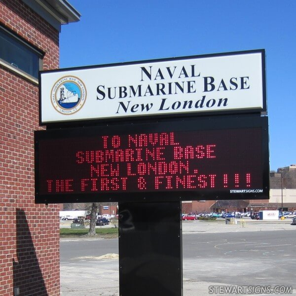 Military Sign for Naval Submarine Base New London