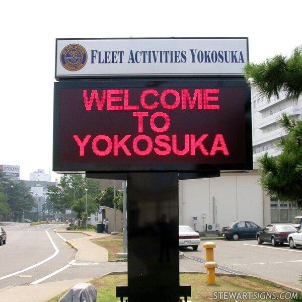 Military Sign for Fleet Activities Yokosuka