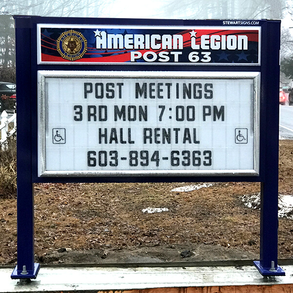 Civic Sign for American Legion Post 63