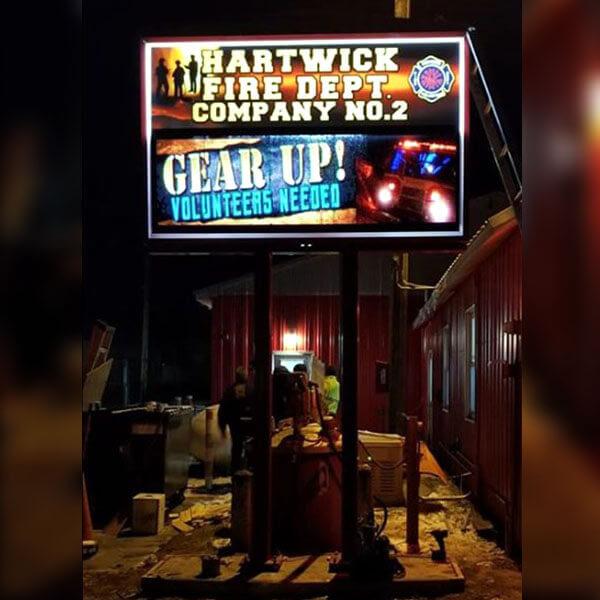 Municipal Sign for Hartwick Seminary Fire Department 2