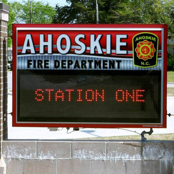 Municipal Sign for Ahoskie Fire Department