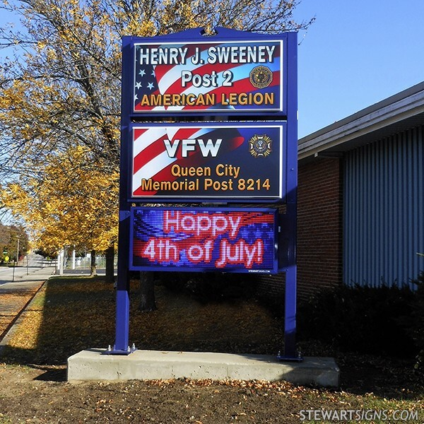 Civic Sign for American Legion Henry J. Sweeney Post 2