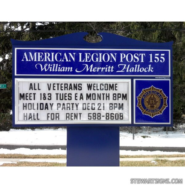 Civic Sign for American Legion Post 155