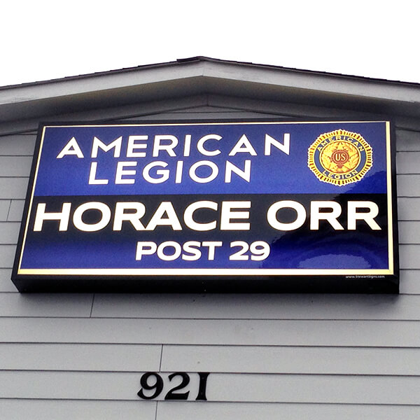 Civic Sign for American Legion Horace Orr Post 29