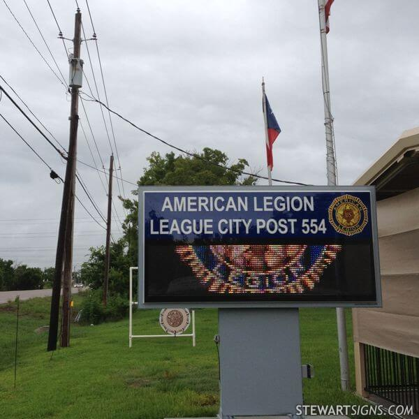Civic Sign for American Legion Post Number 554