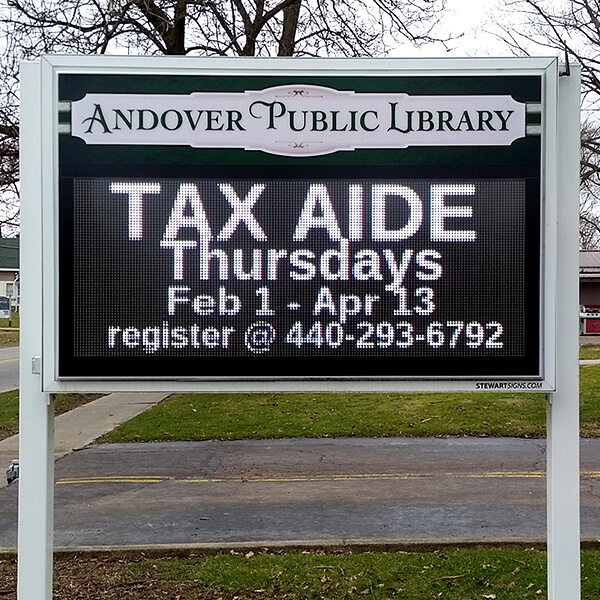 Municipal Sign for Andover Public Library
