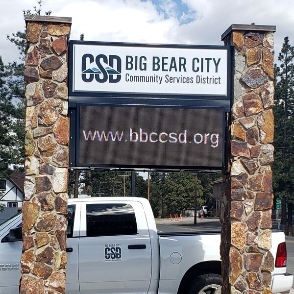 Civic Sign for Big Bear City Community Services