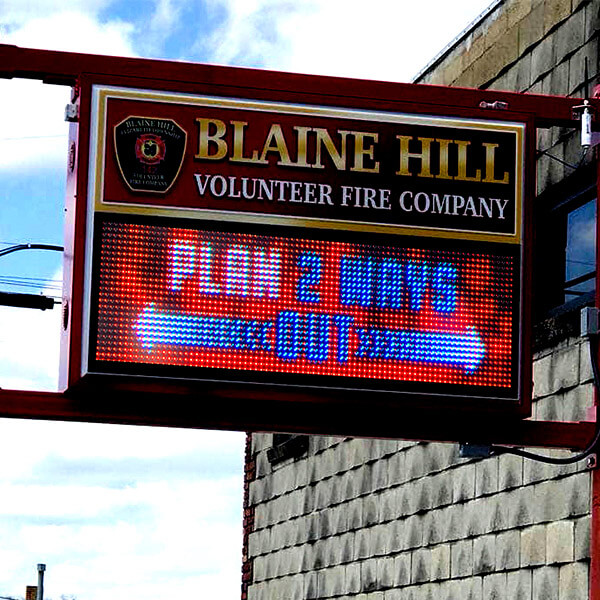 Municipal Sign for Blaine Hill Volunteer Fire Company