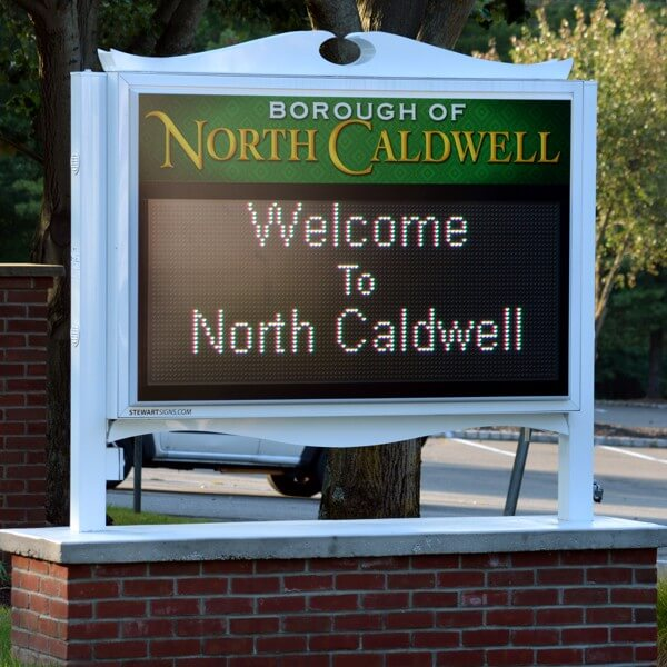 Municipal Sign for Borough Of North Caldwell
