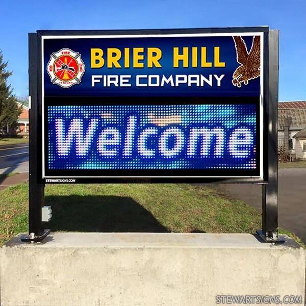 Municipal Sign for Brier Hill Fire Department
