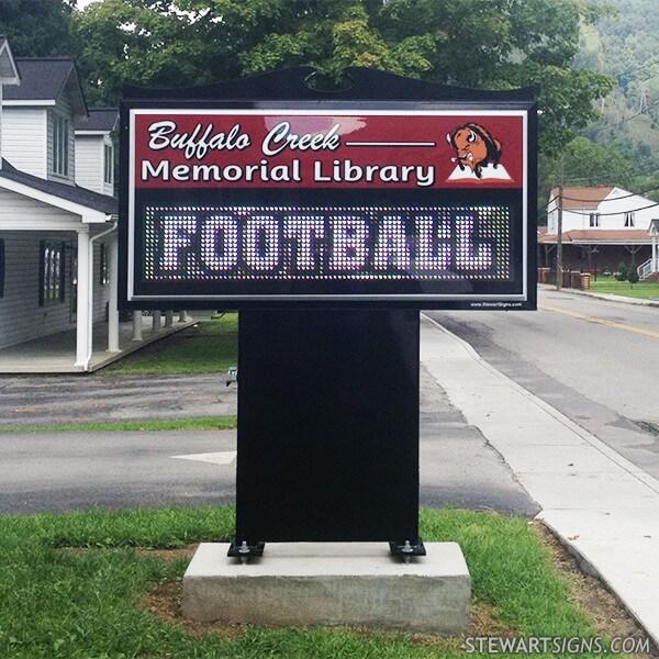 Municipal Sign for Buffalo Creek Memorial Library