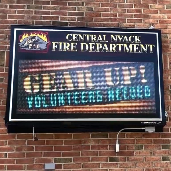 Municipal Sign for Central Nyack Fire Department