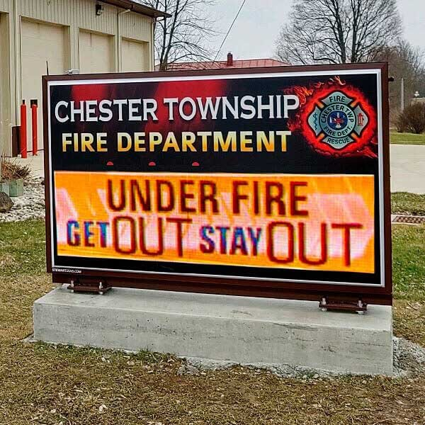 Municipal Sign for Chester Township Fire Department