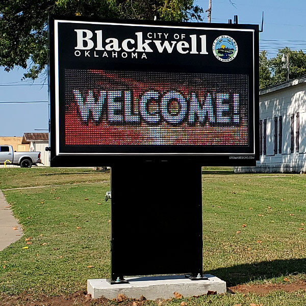 Municipal Sign for City Of Blackwell
