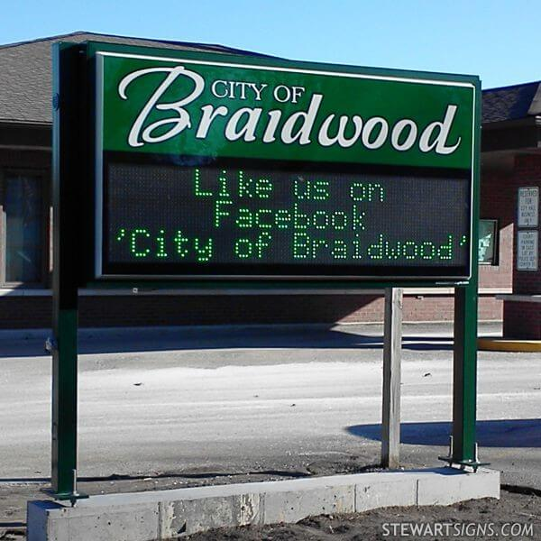 Municipal Sign for City Of Braidwood
